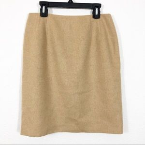 Talbots Petite Camel Hair Pencil Skirt Size 6